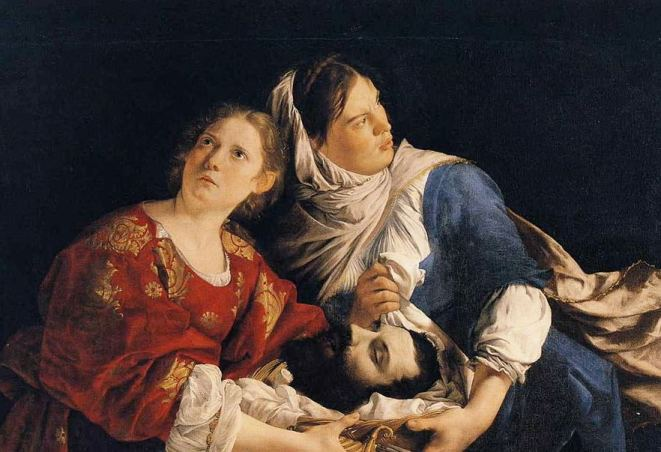 Orazio Gentileschi (1563—1639), 'Judith and Her Maidservant with the Head of Holofernes' (detail). Courtesy of Wikimedia Commons