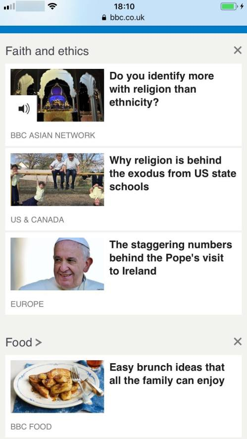 The BBC website on Saturday featured the story, 'Why religion is behind the exodus from US state schools,' just above an article about food