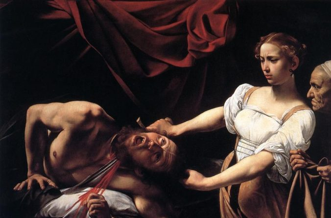Caravaggio, 'Judith beheading Holofernes' (circa 1598—1599). Courtesy of Wikimedia Commons.