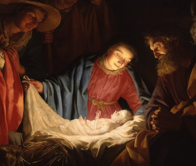 Detail from Gerard van Honthorst's 'Adoration of the Shepherds' (1622). Courtesy of Wikimedia Commons