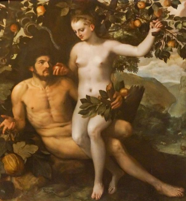 'Adam and Eve' by Frans Floris (in the Uffizi Gallery). Courtesy of Wikimedia Commons, https://commons.wikimedia.org/wiki/File:Adam_and_Eve_by_Frans_Floris.jpg