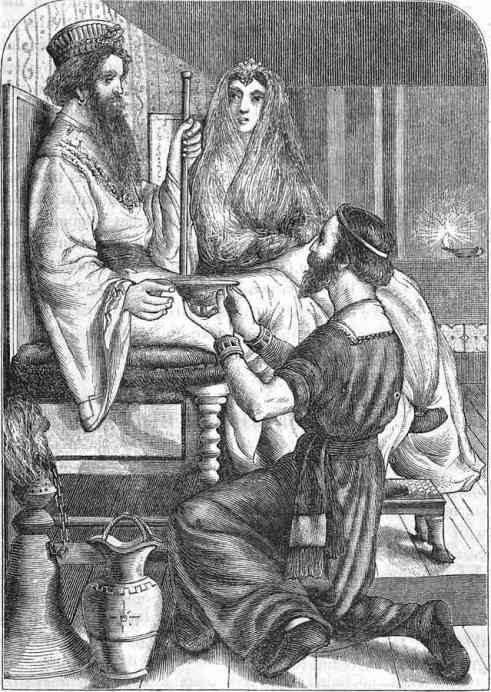 Nehemiah as cupbearer to the Persian Emperor (depiction from 1873). Courtesy of Wikimedia Commons