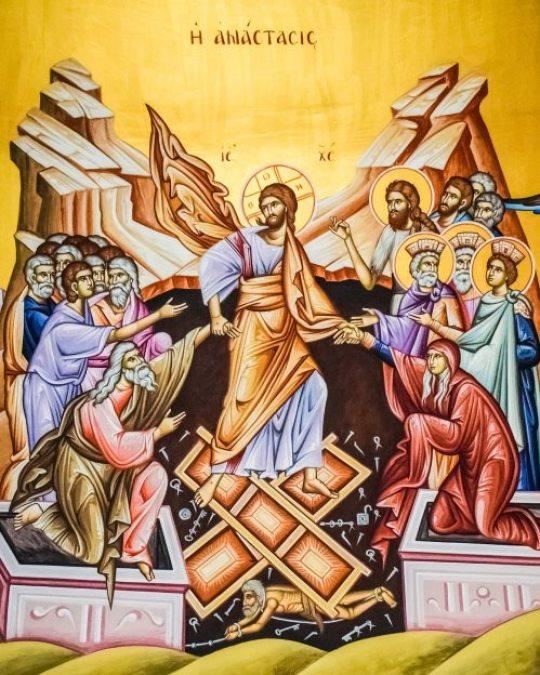 Icon depicting the resurrection of Christ. Courtesy of dimitrisvetsikas1969 on Pixabay