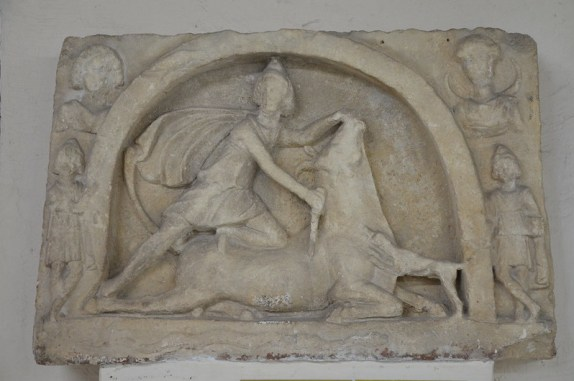 Relief of Roman Mithras (CIMRM 2257), discovered near village Kreta, Pleven Regional Historical Museum, Bulgaria. Courtesy of Flickr / Carole Raddato under Creative Commons Attribution-ShareAlike 2.0 Generic (CC BY-SA 2.0) licence