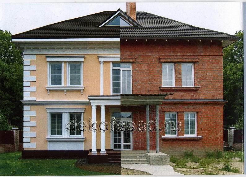 дизайн фасадов частных домов фото 6