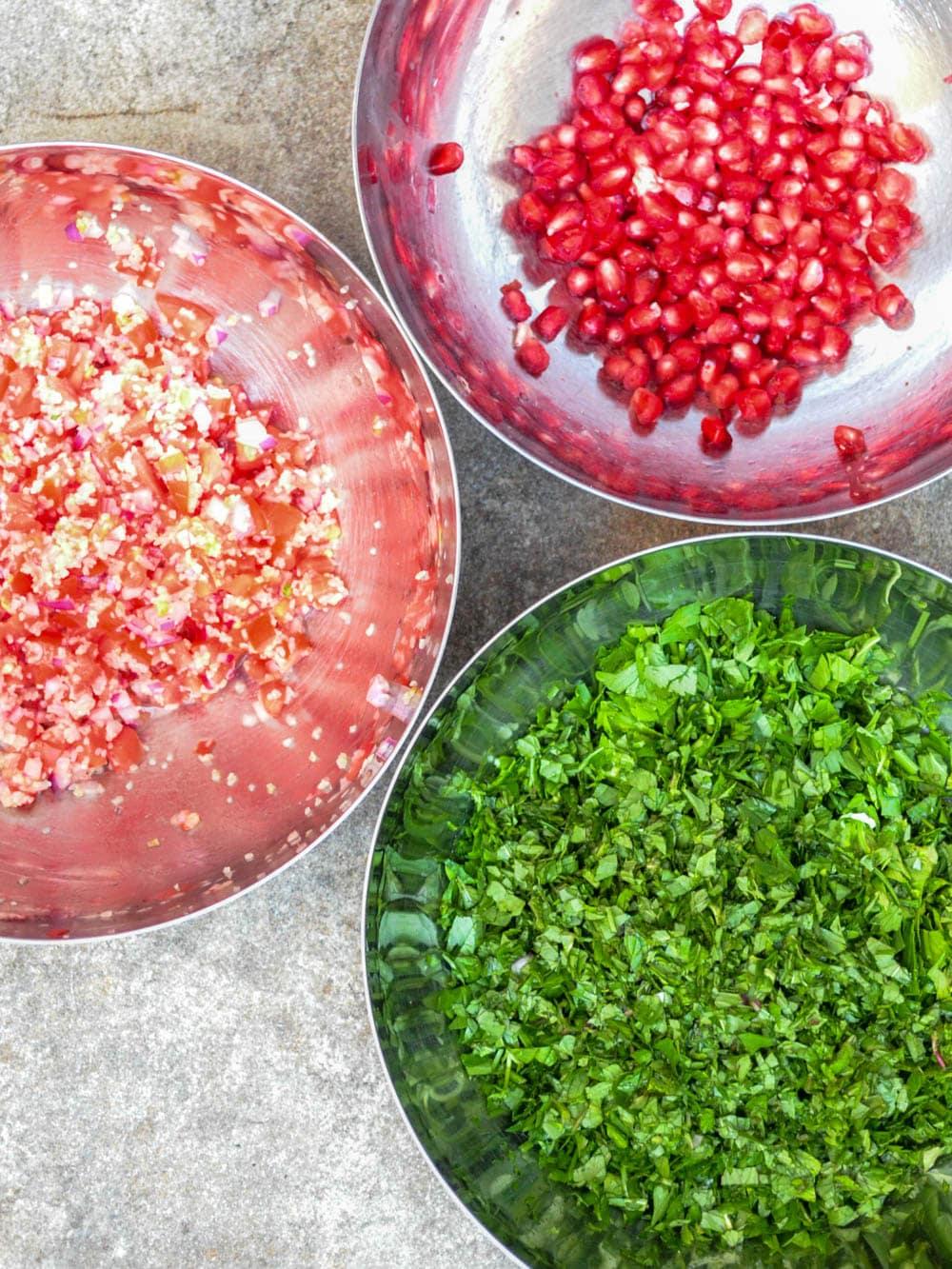 Tabbouleh med granateple - oppskrift / Et kjøkken i Istanbul
