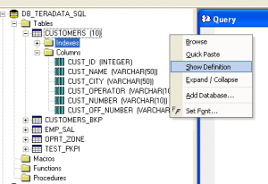 Teradata SQL Assistant - Tips & Settings