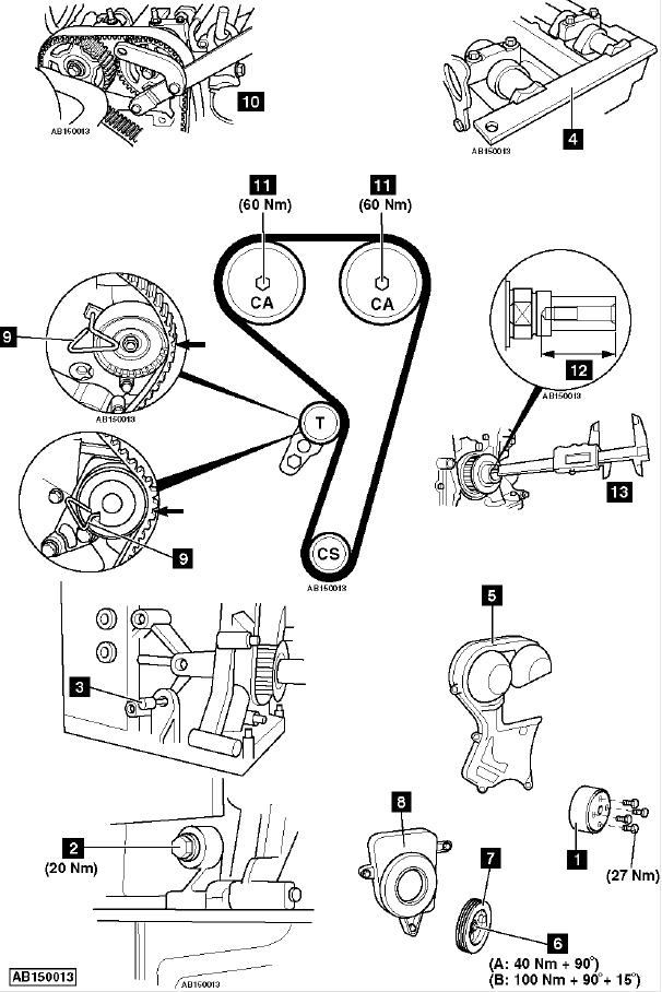 Метки ГРМ Форд Фокус 2 двигатель 1,6 16V (решено) — 1 ответ