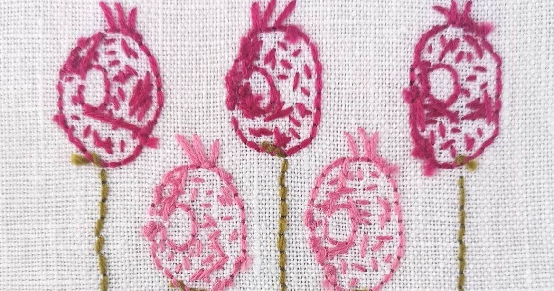 How to start and finish embroidery no knots pfoto of the backside of embroidery