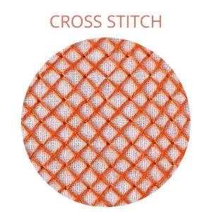Cross stitch hand embroidery