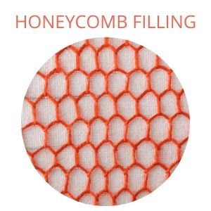 Honeycomb filling stitch embroidery