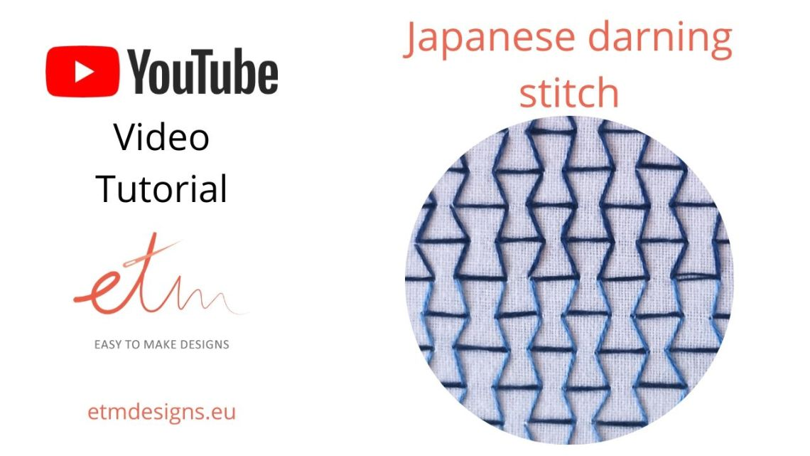 Japanese darning stitch video tutorial cover