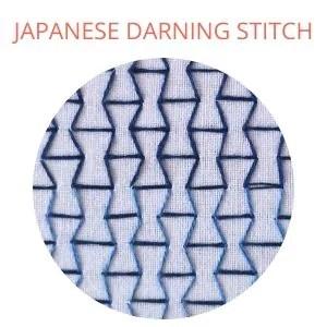 Japanese darning stitch hand embroidery