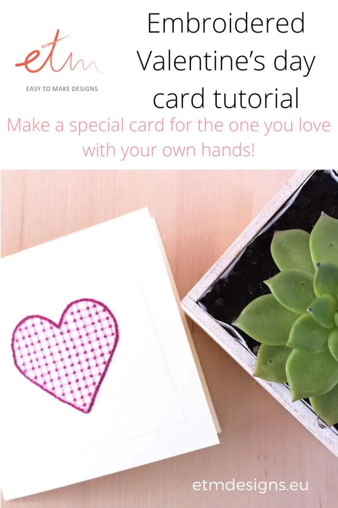 Valentine's day card tutorial pin