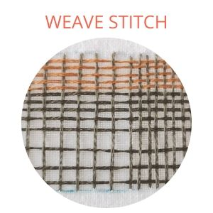 Weave stitch, weaving stitch embroidery