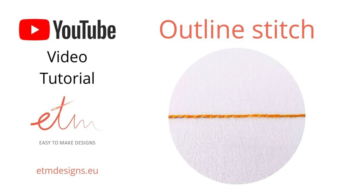 Outline stitch on YouTube