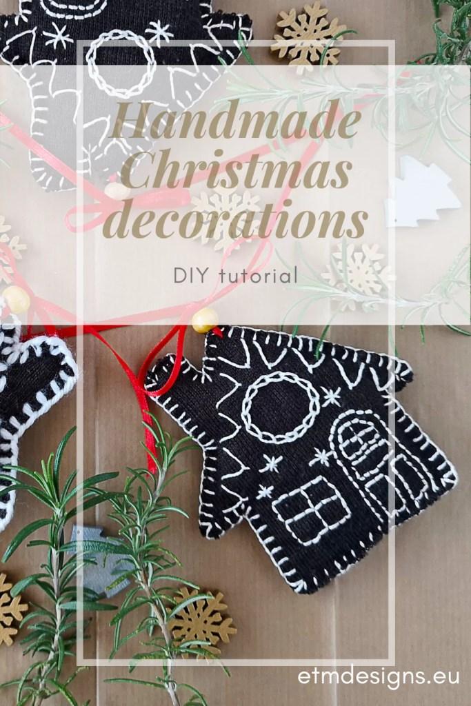 Handmade Christmas decorations Tutorial PIN