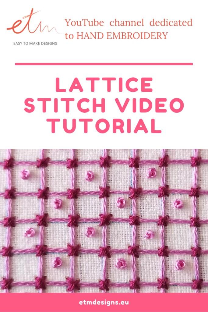 Lattice stitch video tutorial