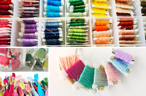 Organize embroidery floss