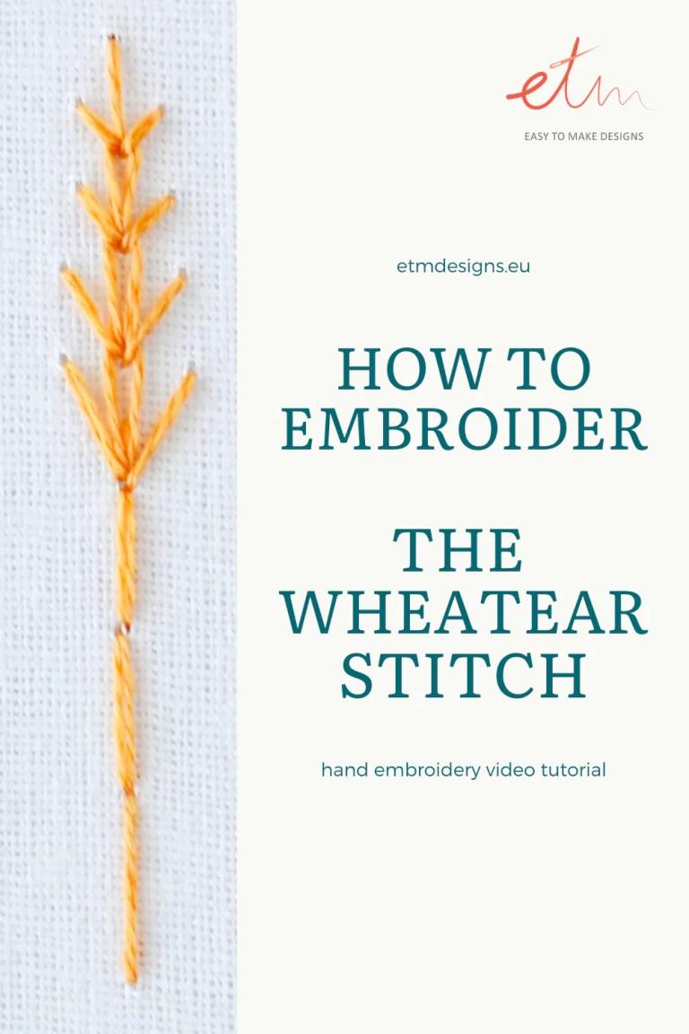 Wheatear stitch video tutorial pin