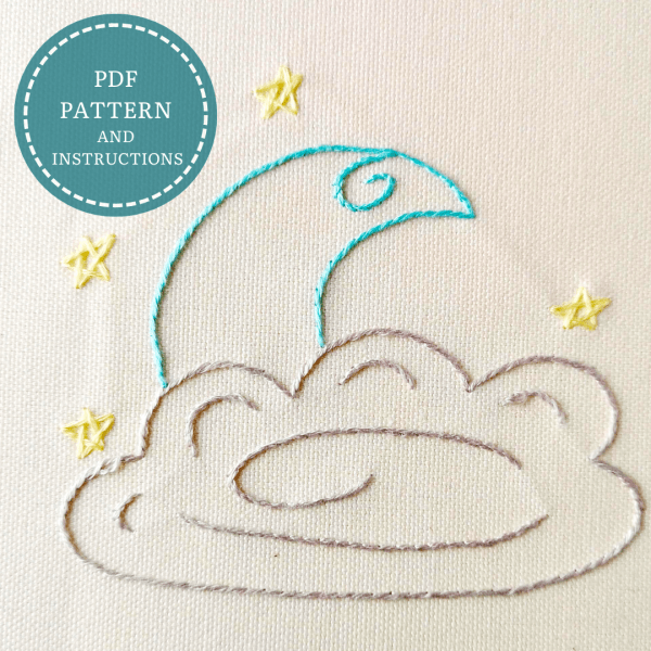 Baby Moon hand embroidery pdf pattern 2