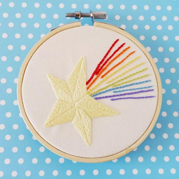 Rainbow Star hand embroidery pdf pattern 3