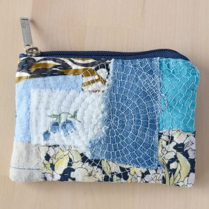 Hand embroidered zipper pouch