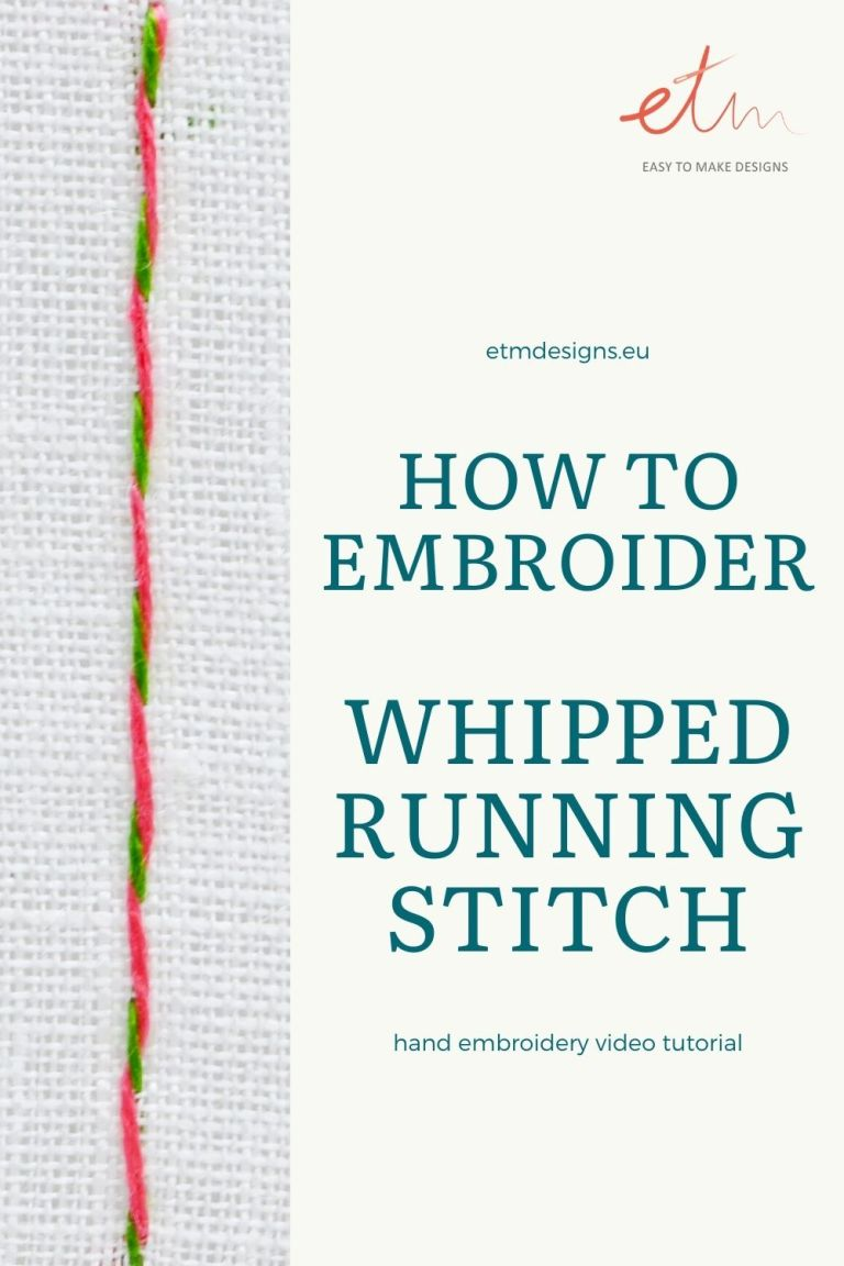 Whipeed running stitch video tutorial
