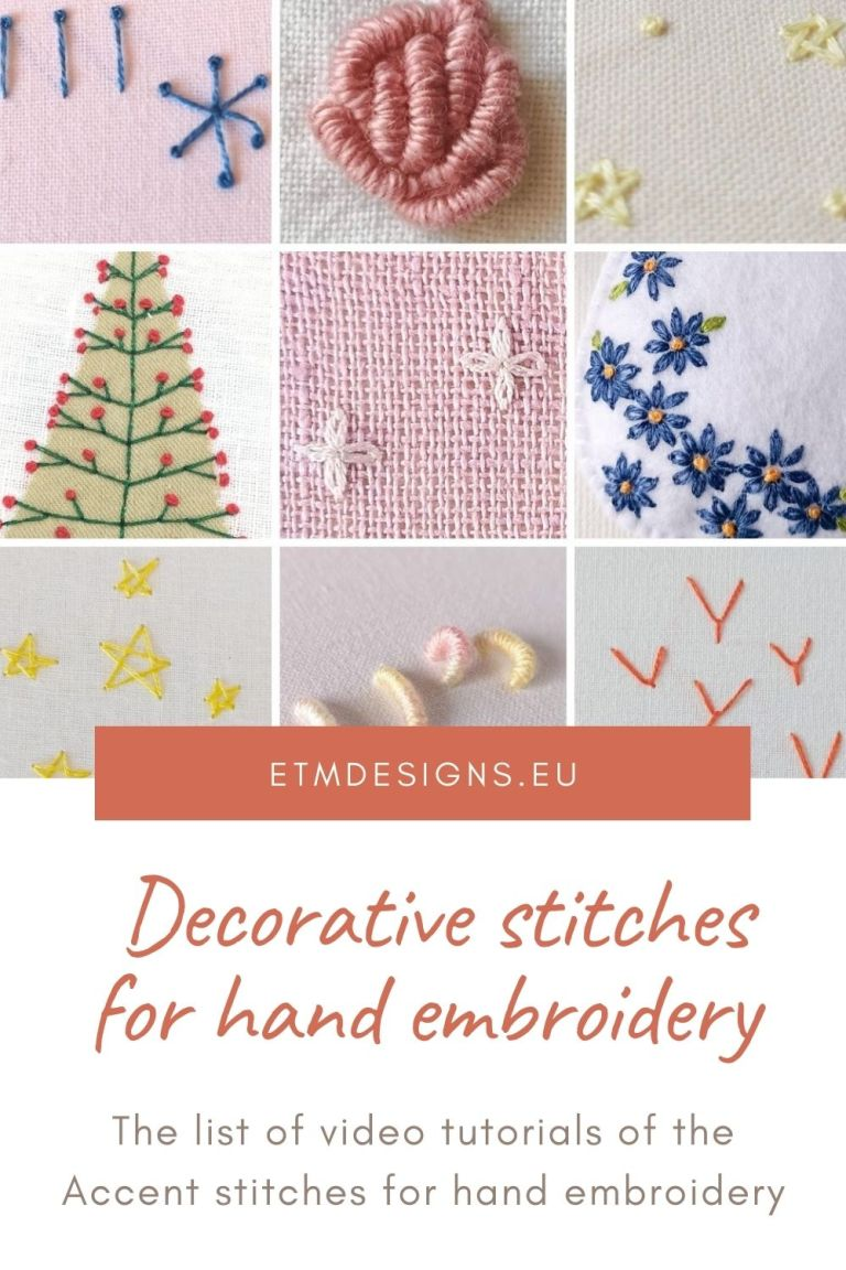 Decorative stitches for hand embroidery
