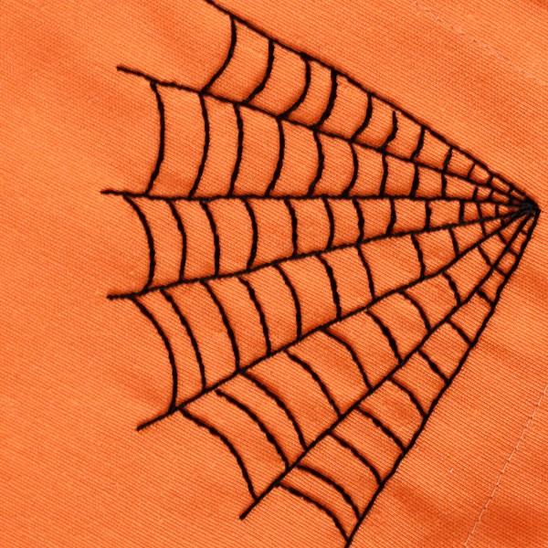Halloween cobweb hand embroidery pattern design