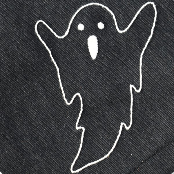 Halloween Ghost hand embroidery pattern for beginners