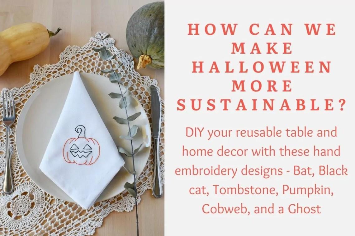 Sustainable Halloween decor