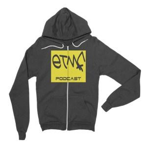ETMF Grey Zip-Up Hoodie