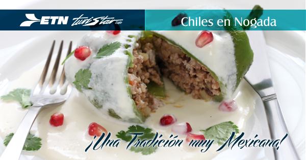Un platillo 100% mexicano, los Chiles en Nogada.