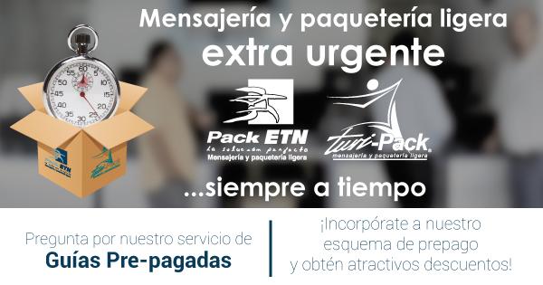 Pack ETN y Turi – Pack  Mensajeria y Paqueteria Extra-Urgente