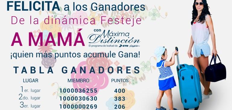 ¡Felicitamos a las ganadoras de la Promoción Festeja a Mamá con Máxima Distinción!