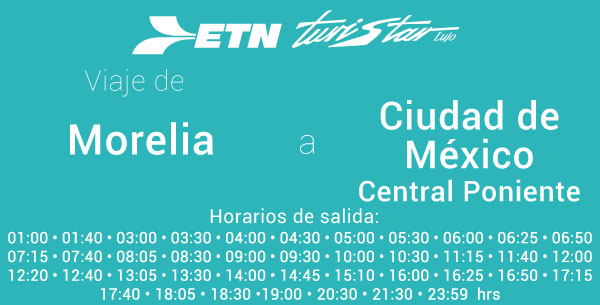 Autobuses de Morelia a México