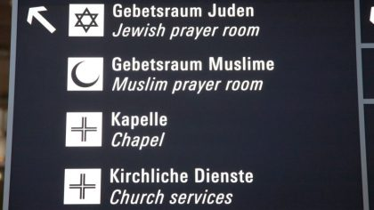 Places to pray, worship and find refuge at Frankfurt Airport