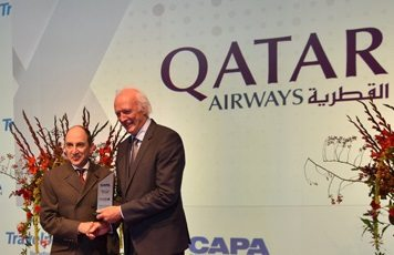 Qatar Airways presented with Airline of the Year award