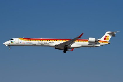 Chorus Aviation delivers first Bombardier CRJ1000 regional jet to Air Nostrum