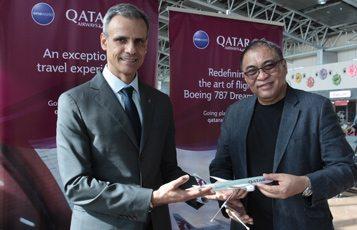Qatar Airways first to fly Dreamliner to Clark International Airport