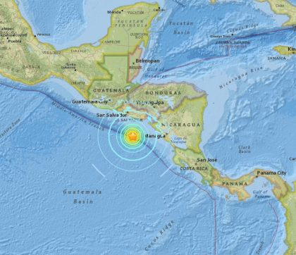 Hurricane and 7.0 Earthquake in Central America