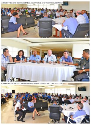 Civil aviation minister meets SCAA staff at Seychelles International Airport