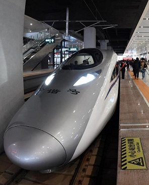 One of world's longest bullet train lines connects China's east and west