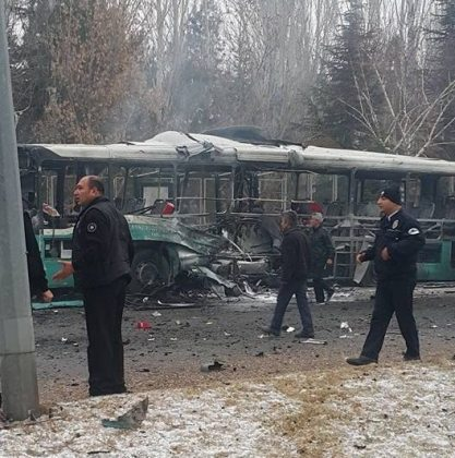 13 killed, 55 wounded in Turkey bus bombing