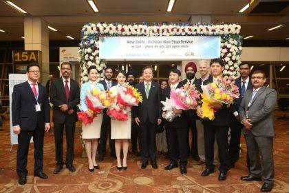 Korean Air Commences Flight Service Between Delhi and Incheon