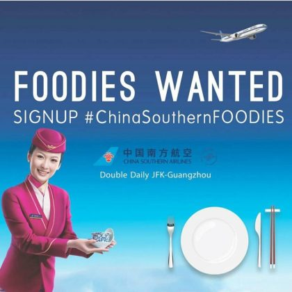 China Southern Airlines New York: Searching for next inflight food sensation
