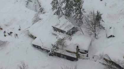 Rescuers search for 30 people in avalanche-hit Italian hotel