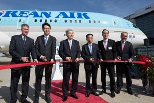 Korean Air celebrates delivery of its first 787-9 Dreamliner