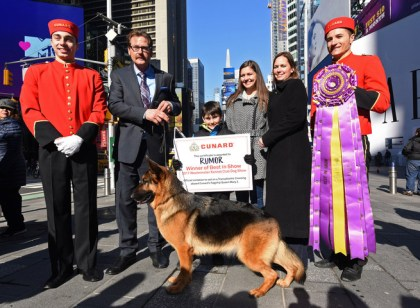 Cunard presents 2017 Westminster Kennel Club show winner with Transatlantic Crossing on Queen Mary 2